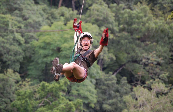 Carol Agle on Zip Line